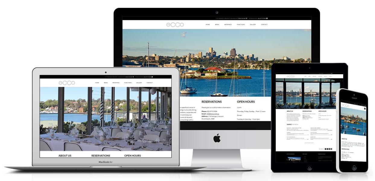 Ecco Ristorante - Restaurant Web Design Sydney