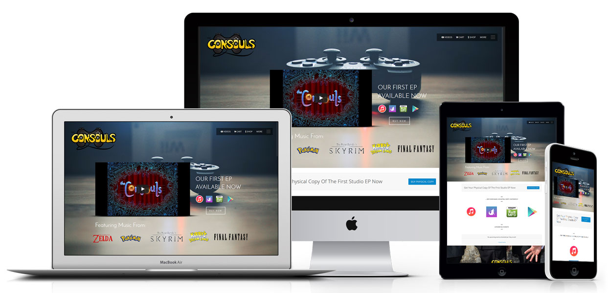 The Consouls - Music Web Design Sydney