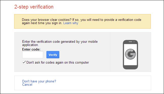 2FA google apps security policy