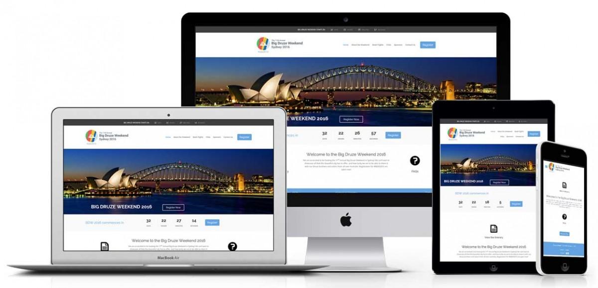 Big Druze Weekend responsive website design