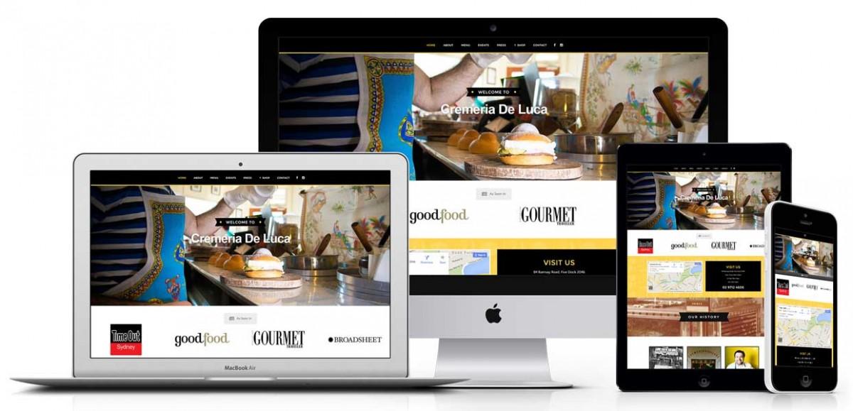 Advisori responsive website design case study - cremeria de luca