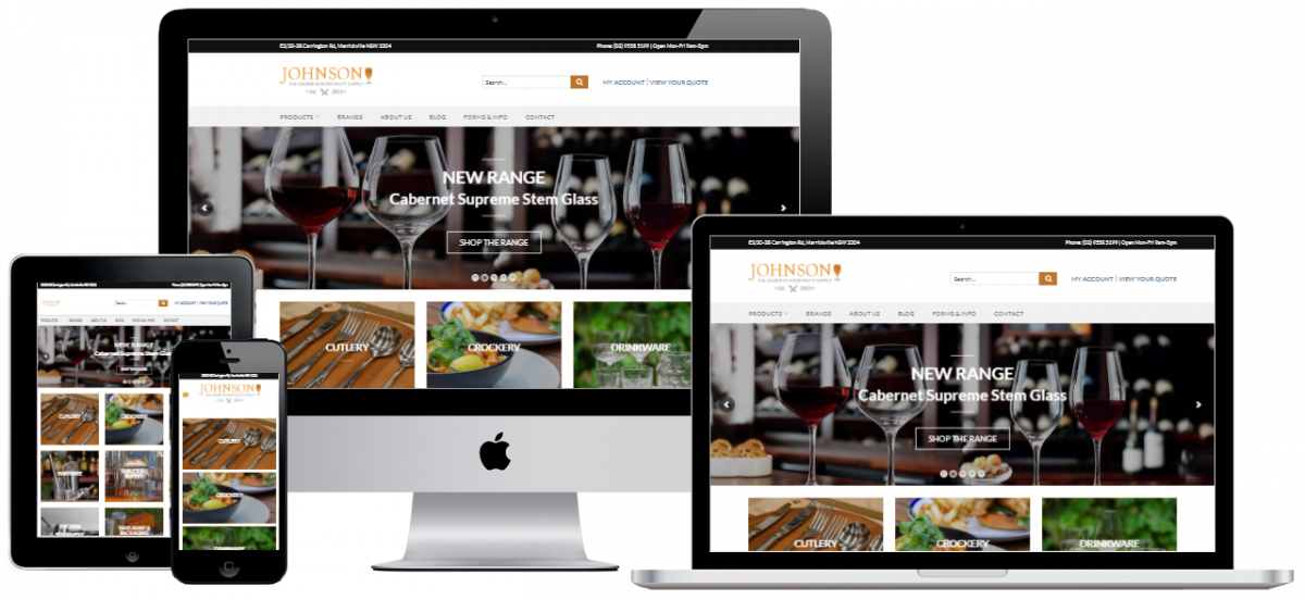 Johnson Hospitality Website Mockup Website Design